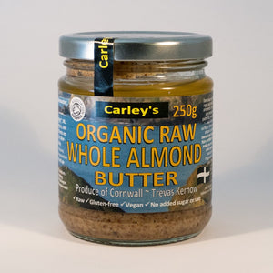 Carley's Organic Raw Whole Almond Butter 250g