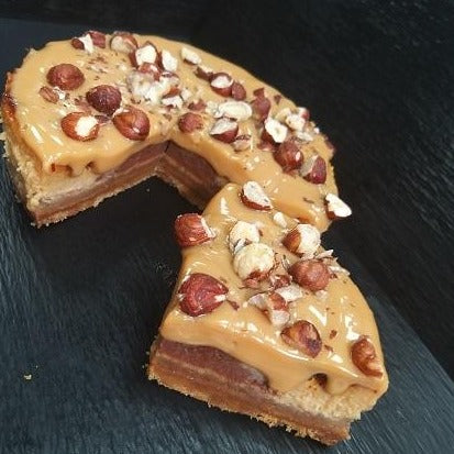 TF Homemade Baked Caramel Hazelnut Cheesecake - Serves 2