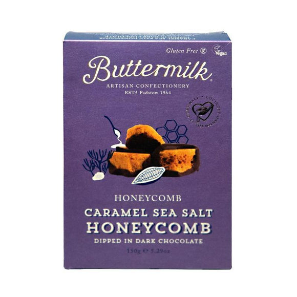 Buttermilk Caramel Sea Salt Dark Chocolate Honeycomb 150g