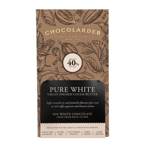Chocolarder Cornish Pure White  40% (70g)