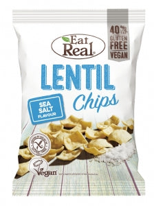 Eat Real Lentil Chips Sea Salt 40g