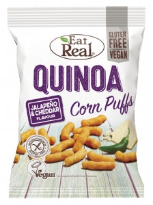 Eat Real Quinoa Puffs Jalapeno & Cheddar 113g