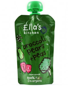 Ella's Kitchen Brocolli Pears and Peas 120g