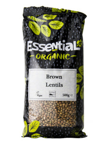 Essential Organic Brown Lentils 500g