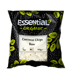 Essential Organic Coconut Chips Raw 125g