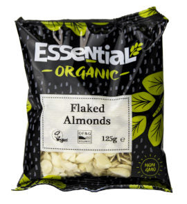 Essential Organic Flaked Almonds 125g
