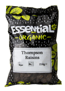 Essential Organic Raisins Thompson 250g