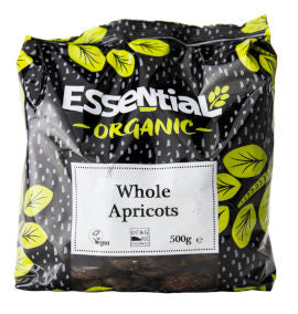 Essential Organic Whole Apricots 500g