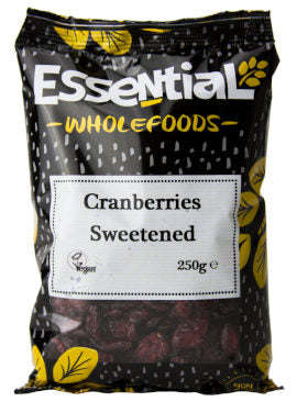 Essential Wholefoods Cranberries Sweetened 250g