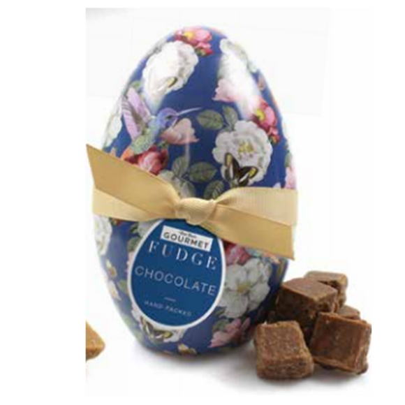 Bon Bon's Gourmet - Chocolate Truffle Fudge Egg Tin 160g