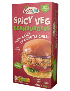 Goodlife Spicy Bean Burgers 454g