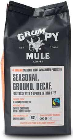 Grumpy Mule Seasonal Ground Decaf