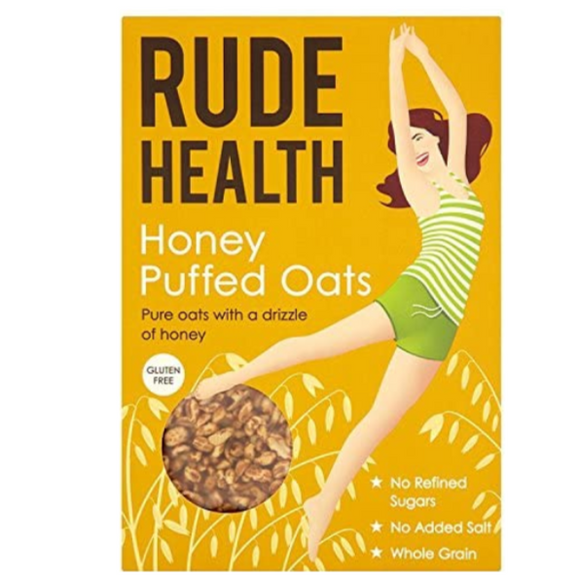 Rude Health Honey Puffed Oats 175g