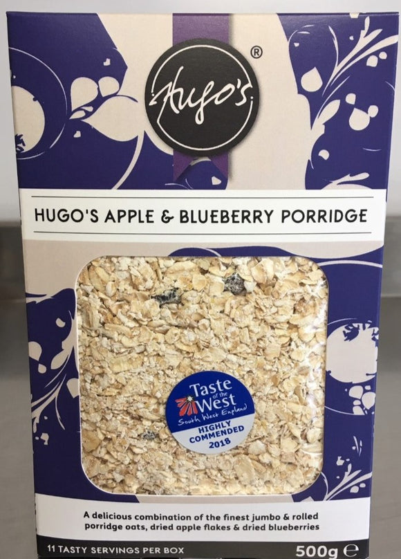 Hugos Apple & Blueberry Porridge 500g