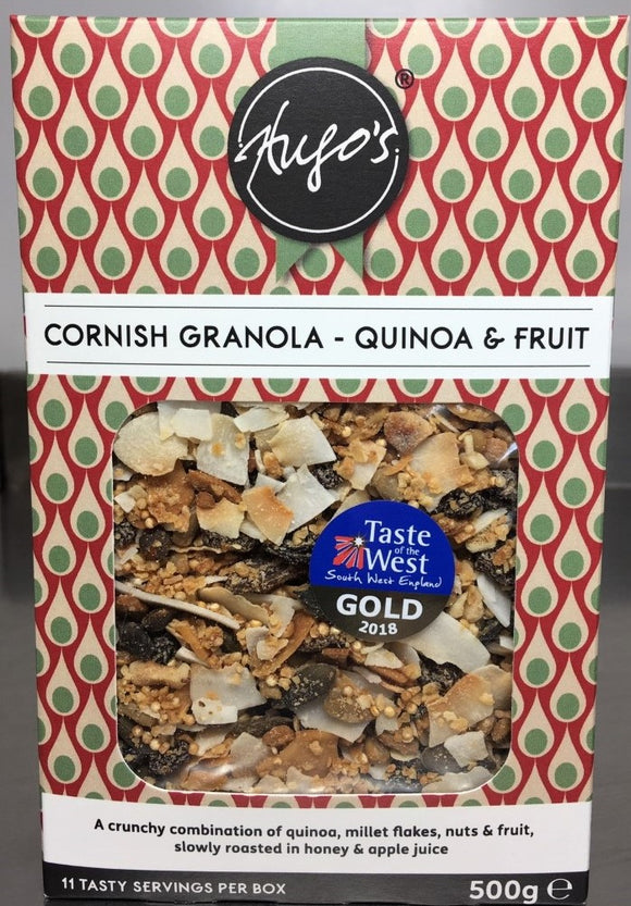 Hugos Cornish Granola -Quinoa & Fruit 500g