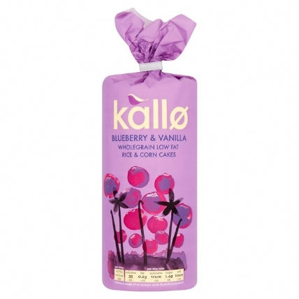 Kallo Blueberry And Vanilla Rice Cake 131g