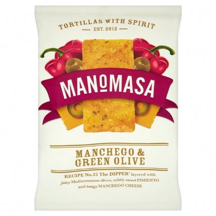 Manomasa Manchego & Green Olive Corn Chips 160g