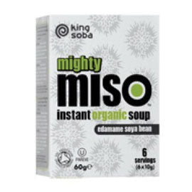 King Soba Mighty Miso Edame Soya bean Soup 60g