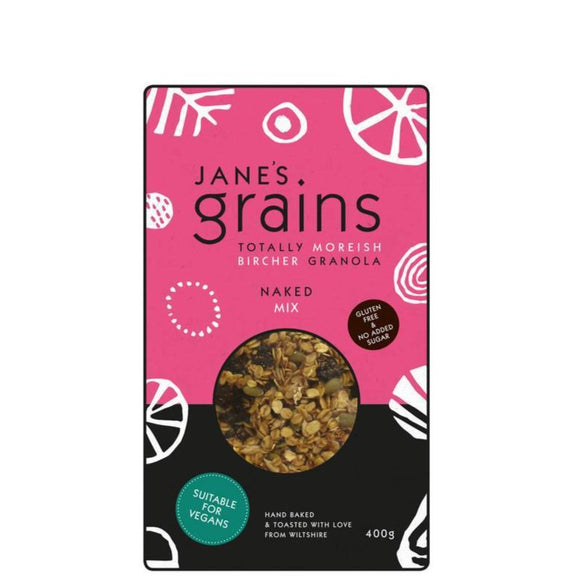 Janes Grains Bircher Granola Naked Mix