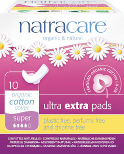 Natracare Ultra Extra Pads Super 10