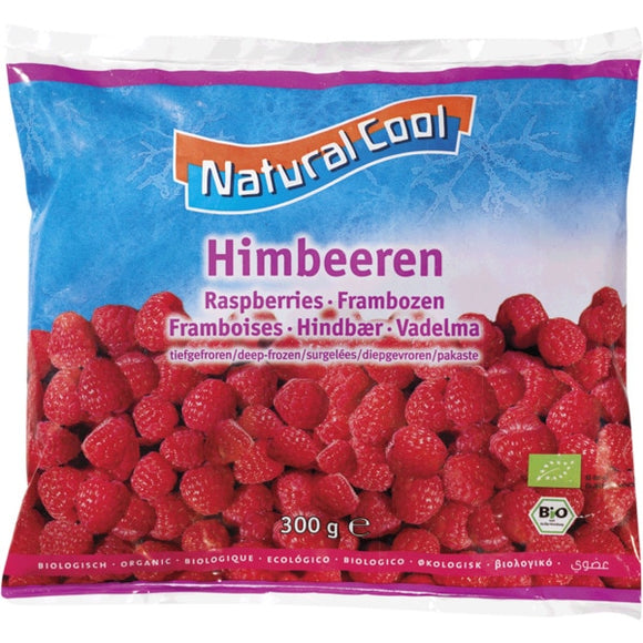 Natural Cool Frozen Raspberries 300g