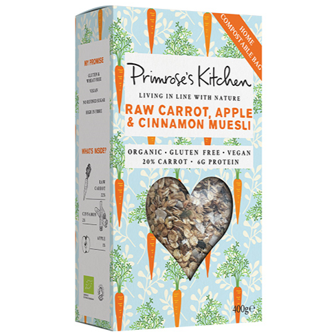 Primrose's Kitchen Raw Carrot, Apple and Cinnamon Muesli