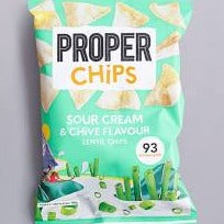 Proper Chips Sour Cream Chives Lentil Chips 85g