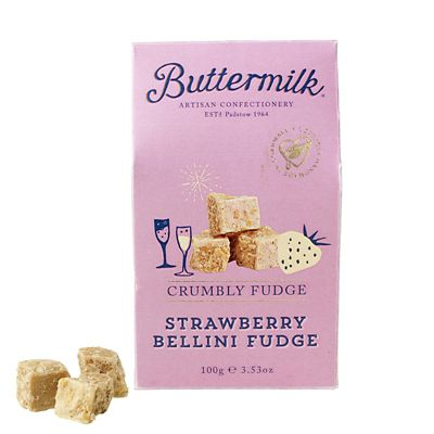 Buttermilk Strawberry bellini Fudge 150g