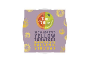 Tom & Ollie - Slow Roasted Yellow Tomatoes Marinated In Balsamic Vinegar 200g