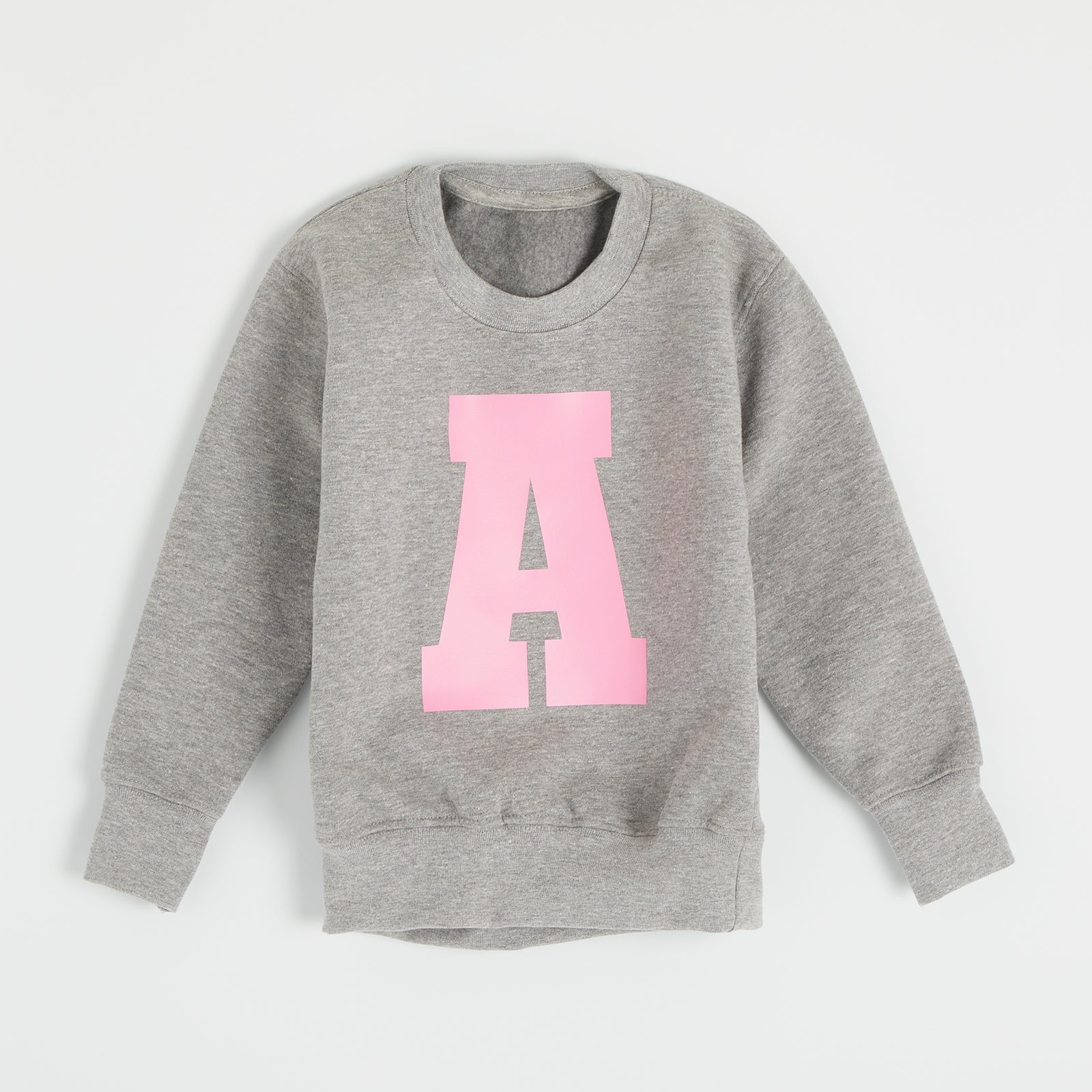 Personalised Grey Varsity Letter Sweater
