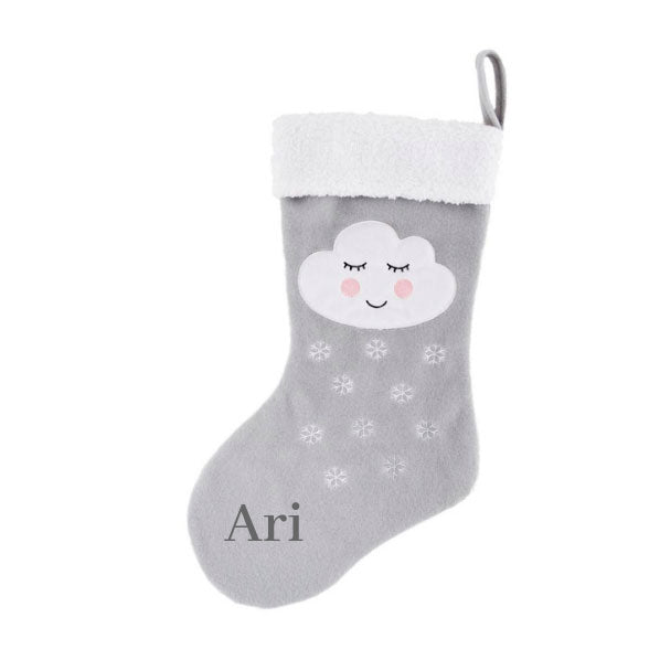 Personalised Snowdrop Cloud Stocking