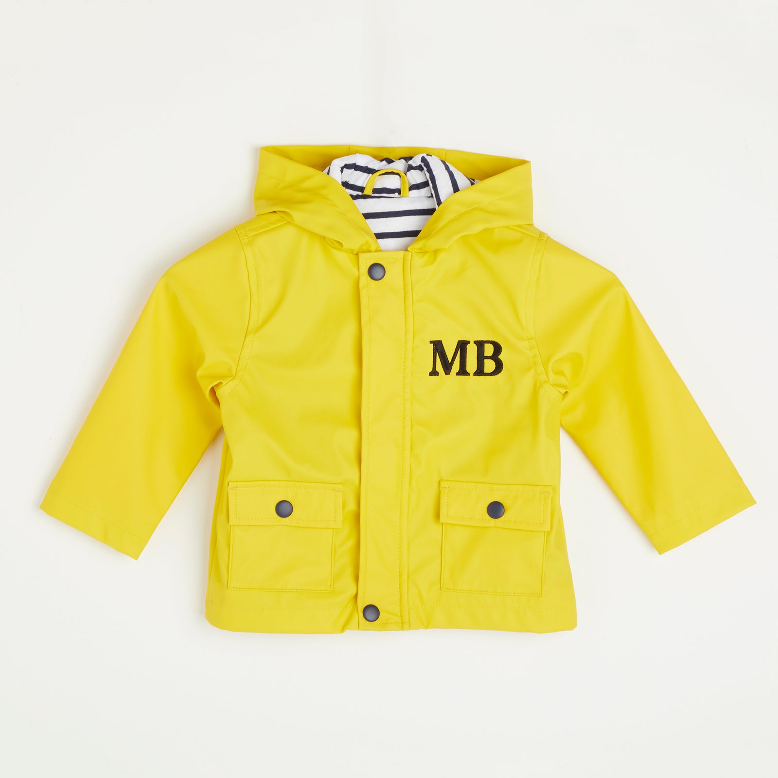 Embroidered Yellow Rain Jacket