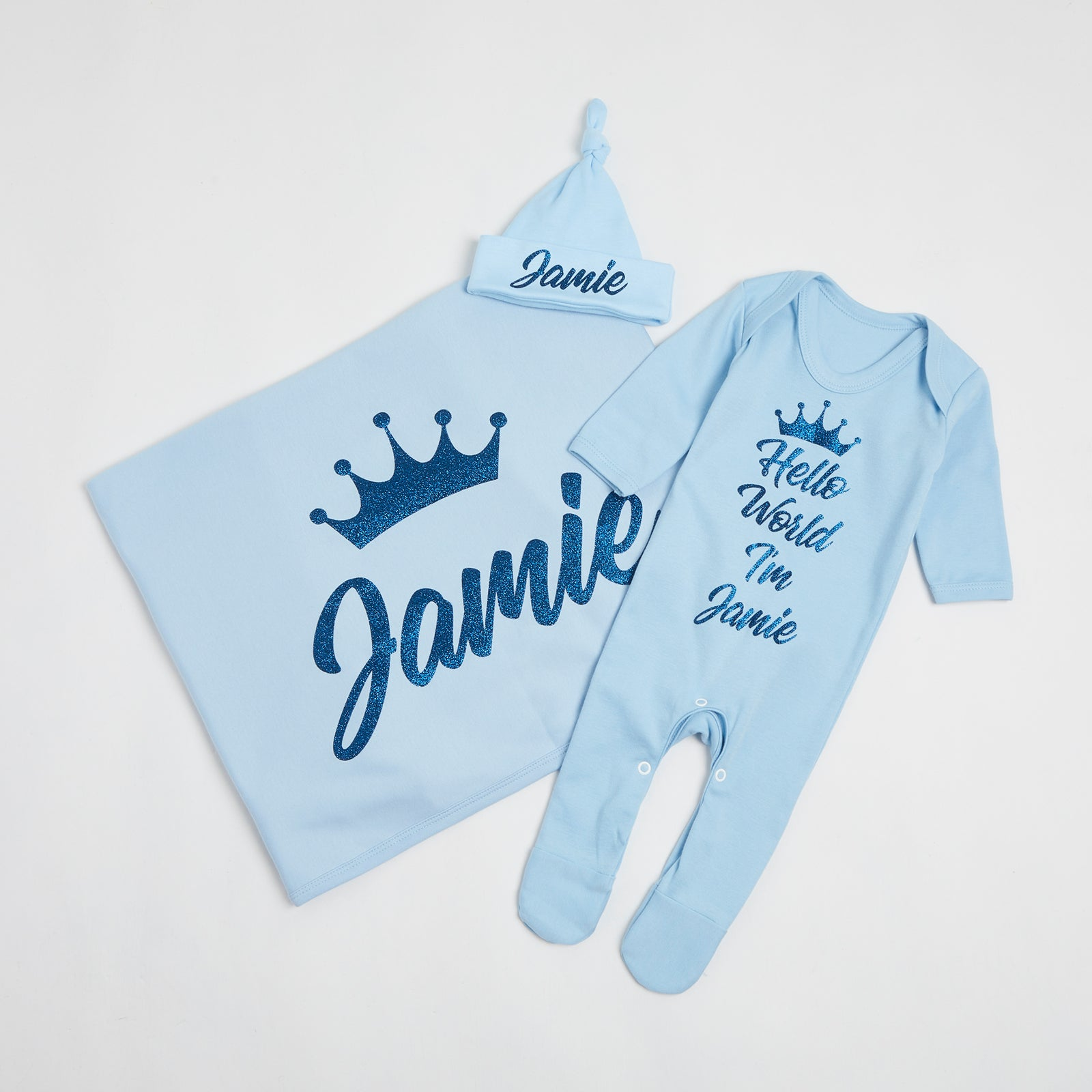 Baby Blue Hello World Gift Set