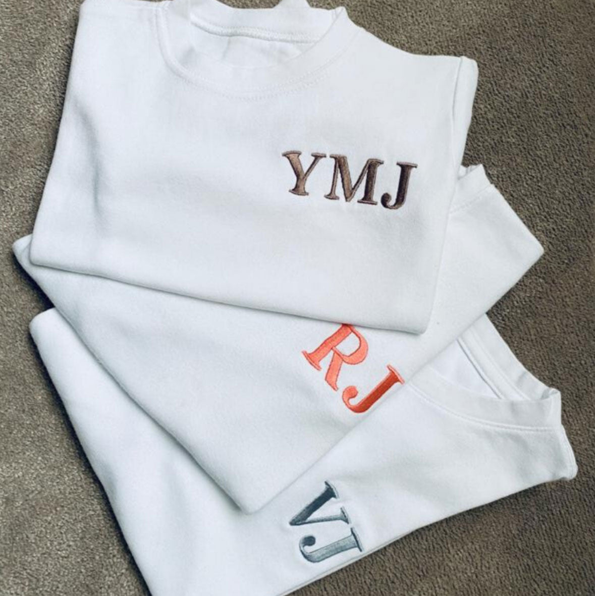 Embroidered Initial T-shirt