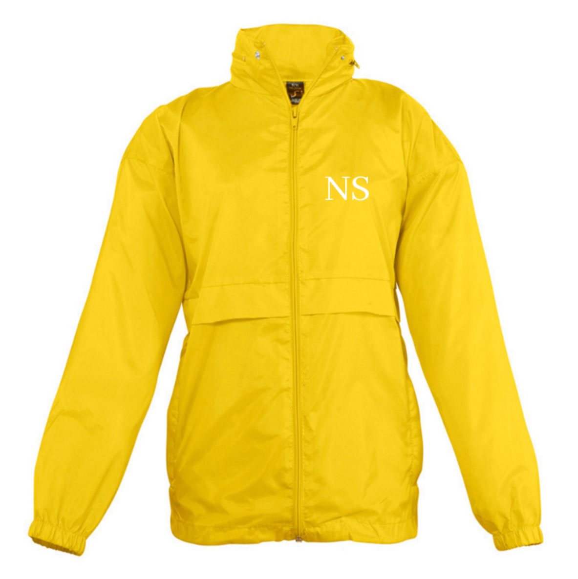 Embroidered Yellow Windbreaker Jacket