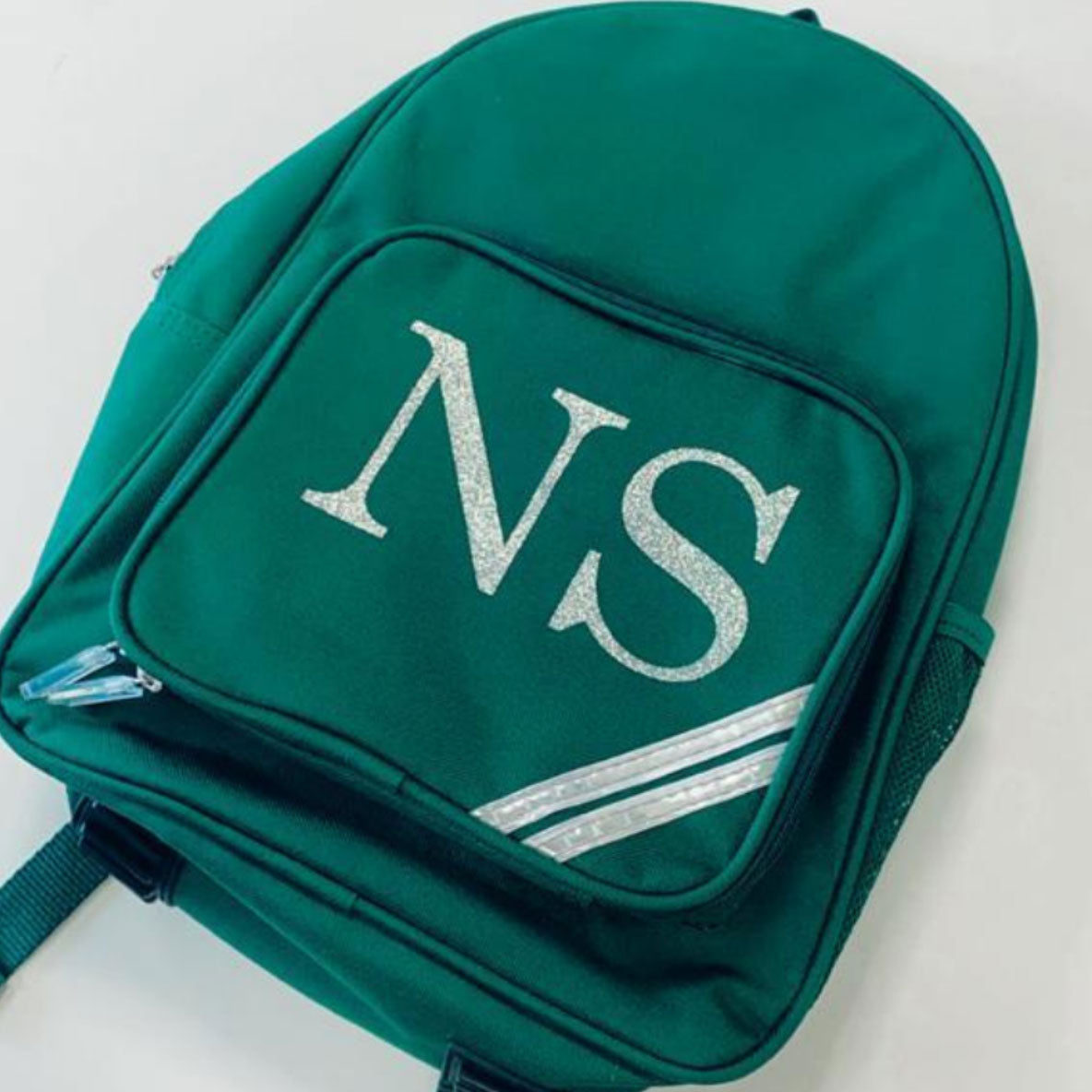 Personalised Green Reflective Backpack Pencil Case