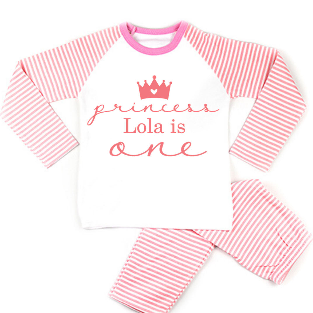 Personalised Princess Birthday Pyjamas