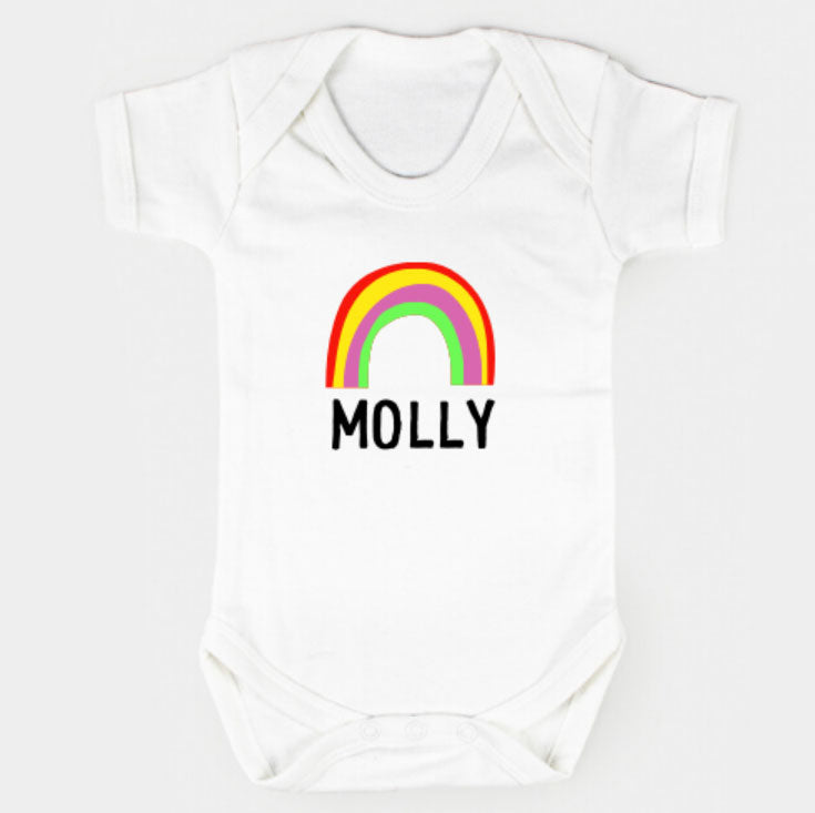 Personalised Rainbow Bodysuit