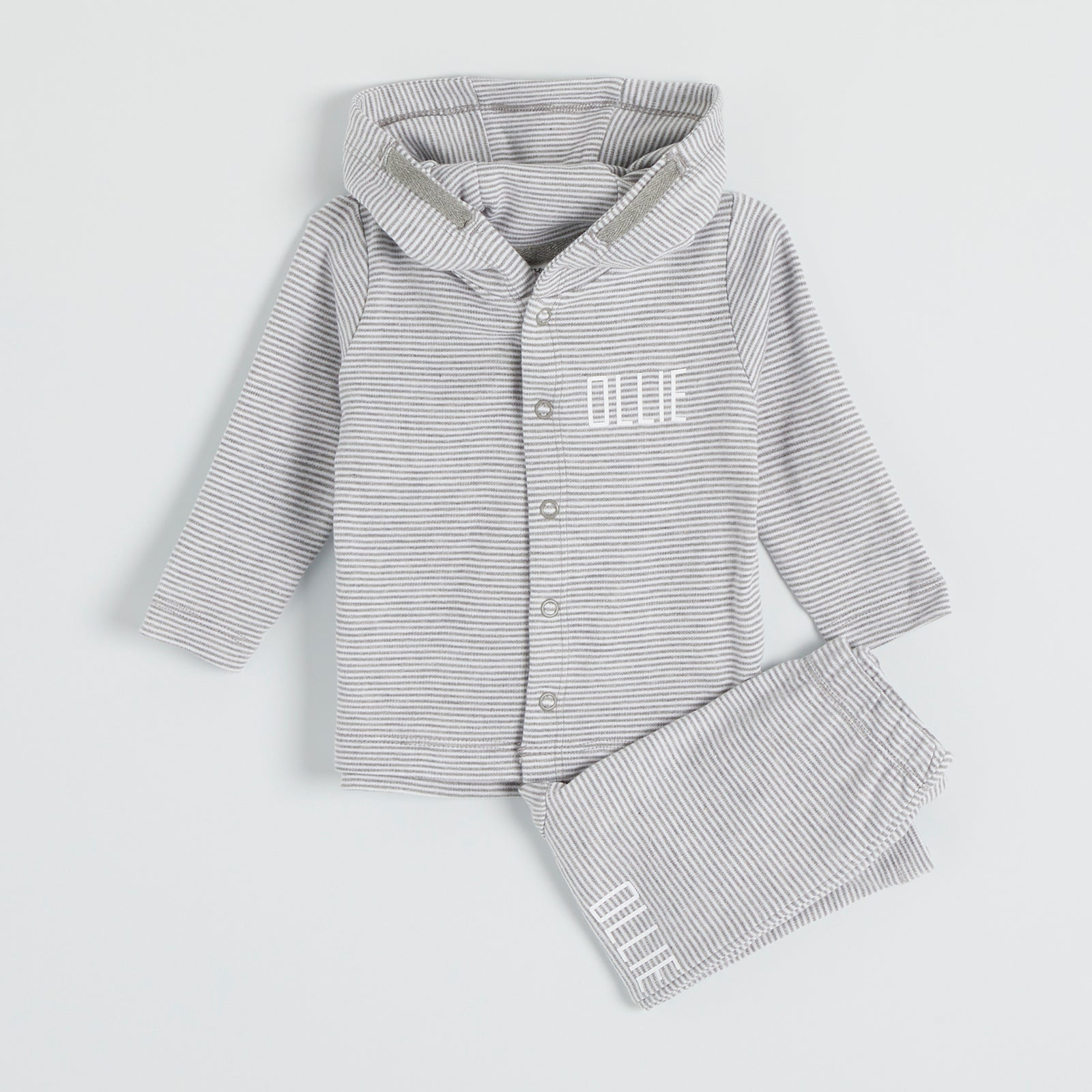 Personalised Striped Hooded Lounge Set