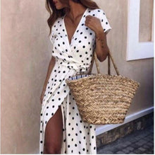 Load image into Gallery viewer, Dolores Polka Maxi Dress W