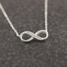 Load image into Gallery viewer, Infinity Crystal Pendant Necklace