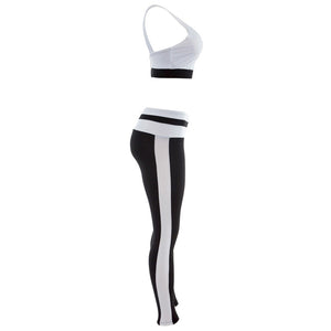 Black and White Yoga And Fitness Set