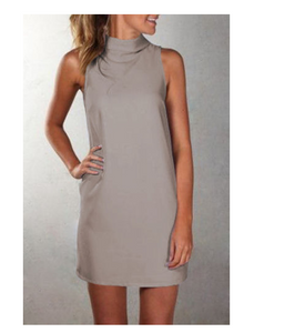 Sharon High Neck Dress W