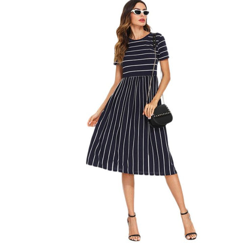 Navy Elegant Dress