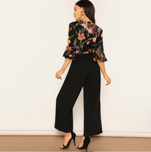 Load image into Gallery viewer, Lisa Wide Leg Jumpsuit with Floral Print