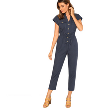 Load image into Gallery viewer, Virginia Navy Casual Jumpsuit