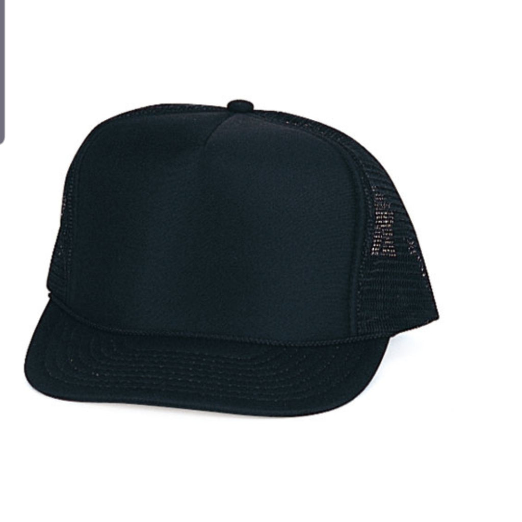 Toddler Black Trucker Hat