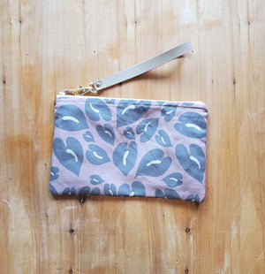 Neutral Anthurium Pouch