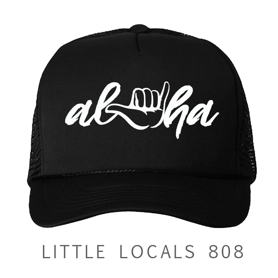 Shaka-Aloha (Black) Trucker Hat