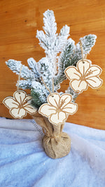 Ornaments / Wooden Hibiscus